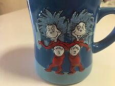 DR. SEUSS 3D RAISED CHARACTERS & GLITTERED THING 1 THING 2 MUG UNIVERSAL - NEW