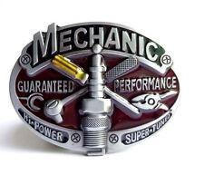 Gürtelschnalle Buckle für Gürtel bis 4 cm Breite Metall tolle Details Mechaniker