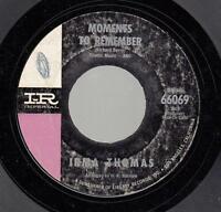 Northern Soul 45 IRMA THOMAS Moments To Remember on Imperial