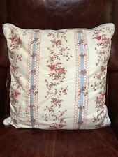 AMERICAN LIVING Throw Accent Pillow Blue Stripes Pink Floral Romantic 19 x 20