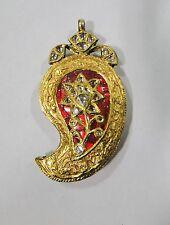 Vintage antique 20 carat Gold Pendant necklace Rajasthan India