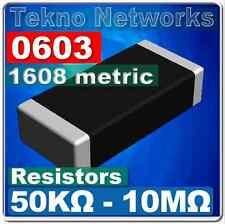 0603 1608 Metric Smd Smt Resistors 100pcs Range 50k 10m Ohm