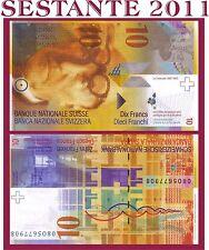 SWITZERLAND / SVIZZERA - 10 FRANKEN 2008 - P 67c - FDS / UNC