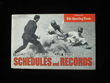 1970 Official TSN American and National League Schedule and Records EX+