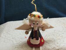 Folk angel/ wooden angel/ folk art from Poland/ hand painted/carved angel