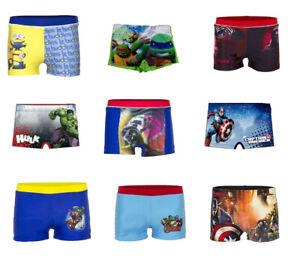 Boys Swimming Trunks Shorts Swim Beach Marvel Paw Patrol Star Wars Avengers Sun