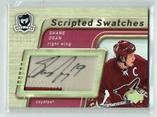05-06 UD The Cup Scripted Swatches  Shane Doan  19/25  His Number  Auto  Patch