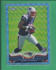 *2013 topps Chrome Rookie Refractor Blue Wave AARON DOBSON no.65 patriots