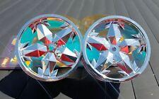 "Imex 3.5"" Ninja Silver Chrome Rims T-Maxx E-Maxx Etc Part # IMX7085 FREE US SHIP"