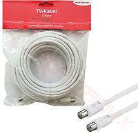 5m TV Antennenkabel Koaxialkabel Digital FULL HD 4K Koax Buchse Stecker Kabel