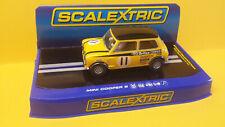 SCALEXTRIC C3640 MINI COOPER S #11 BRITAX COOPER  1969 SILVERSTONE WIPAC TROPHY.