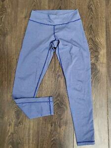 Blue Adidas Gym Sports Leggings Size S 8/10 uk