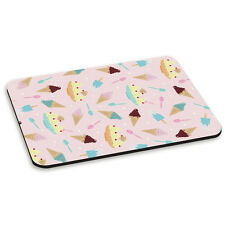 Ice Cream Sundae Design Sprinkles Lolly Pink PC Computer Mouse Mat Pad