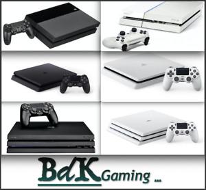 Sony PS4 Playstation 4 Console - White / Black - 500GB / 1TB - Original Slim Pro