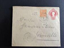 1918 Brazil stationery Rhm En68 type I icor vencal cancel uprated Sc 224