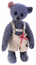 CLEMENS Limited Edition Max Teddy Bear 24cm + Cotton bag Grey New