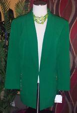 KASPER NWT $129 16W women's blazer jacket green gold accents holiday Christmas