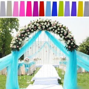 Tulle Wedding Decoration Tutu Craft Party Bridal Favor Fabric Spool Bolt 54 Roll