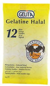 12 Sheets Halal Leaf Gelatine Bovine Beef Gelatin by Gelita
