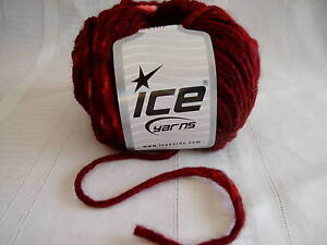 Burgundy with pink spots Yarn #4 Worsted #40137