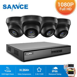 SANNCE 8CH 5IN1 DVR 3000TVL Dome CCTV Camera Home Surveillance System Kit Email