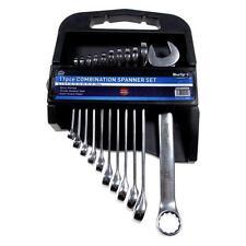 11pc Combination Spanner Wrench Set Metric 6 - 19mm Chrome Vanadium BlueSpot