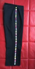 Moschino Cheap And Chic Pants Capris Black Cropped US 6 IT 44 Studs Italy