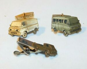 RARE old Ford Econoline Van Advertising Cuff Links & Tie Tac