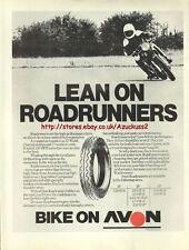 Avon Roadrunners Tyres Motorcycle 1976 Mag Advert #248