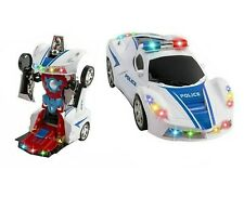 Toys for Boys Age 3 4 5 6 7 8 9 Year Old Kids Police Car Transformer 2 in1 Robot