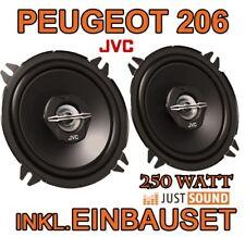 Peugeot 206 + SW   JVC HECK Lautsprecher BOXEN SET PAAR 130mm 250WATT  NEUWARE