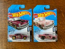 2020 Hot Wheels Super Treasure Hunt '57 Chevy and Regular Edition NMINT