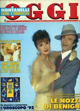 * OGGI N°3/ 8/GEN/1992 * WALTER CHIARI * LE NOZZE DI BENIGNI * JANE FONDA . . .