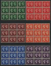GB GVI 1940 centenary SG479-484 unmounted mint MNH set as blocks of 9 stamps