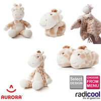 New! Aurora GIGI GIRAFFE Plush Soft Toy Rattle Comforter Babies Infant Gifts