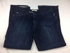 Preowned Woman's Levi's Boot Cut Blue Jeans Size 16 515 Jeans Dark Wash