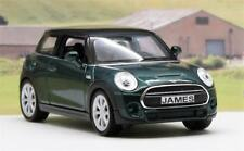 PERSONALISED PLATES Green BMW Mini Hatch Boys Toy Model Dad Car Present Boxed