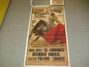 VINTAGE SPANISH BULL FIGHTING POSTER EL CORDOBES ON PAPER, C.1971