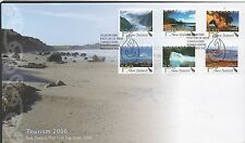 New Zealand 2006 FDC Tourism , postcard rate set stamps