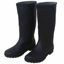 vidaXL Wellingtons Size 11.5 Black Waterproof Men Garden Rain Wellies Boots