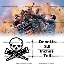 extreme sports jackass skull crutches danger sticker
