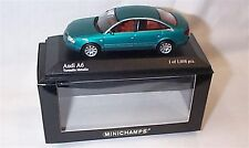 Audi A6 Saloon 1997 vert métallique échelle 1-43 Ltd Edition New in Box