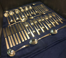 Towle Old Lace Pattern Sterling Silver Flatware -  53 pieces + 1 different piece