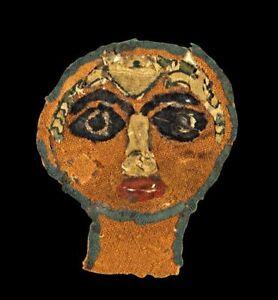 *SC*  ROMAN - BYZANTINE PORTRAIT TEXTILE, COPTIC EGYPT, 5TH.- 7TH. CENT. AD