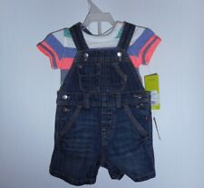 Geniune Baby Denim Overall Short Set Overall 2-Piece Infant Boy Size 6 M NWT