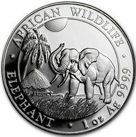 2017 Somalia 1 oz Silver Elephant  9-8