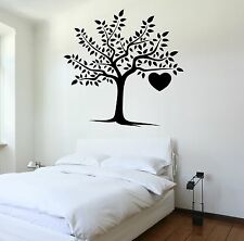Wall Decal Tree Heart Love Romantic Vinyl Sticker (z3629)
