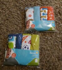 2 Packages of Safety 1st 4-Pk Washcloths * Sports & Puppies