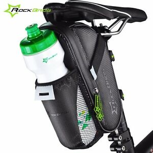 RockBros Cycling Water Bottle Bag Folding Trunk Pannier Bike Saddle Bag Black