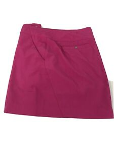 Skort Pink Kate Lord Women's Size 8 Golf Travel Quick Dry Packable Breathable